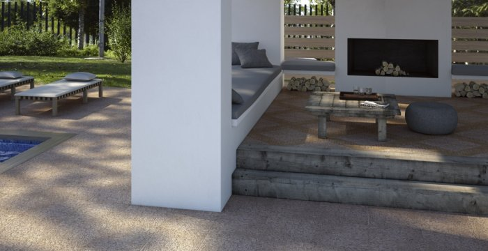 Pavimento gres para exterior materiales de construcci n - Pavimento rustico exterior ...